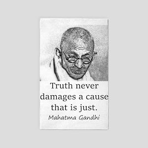 Truth Never Damages - Mahatma Gandhi Area Rug
