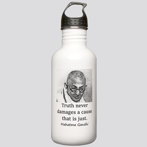 Truth Never Damages - Mahatma Gandhi Water Bottle