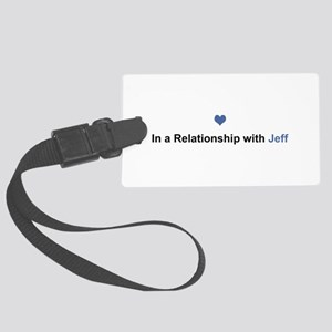 Jeff Relationship Large Luggage Tag