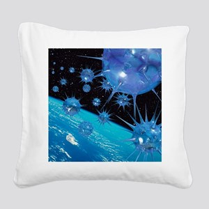 Global pandemic - Square Canvas Pillow