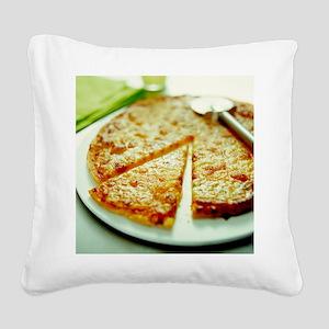 Pizza - Square Canvas Pillow