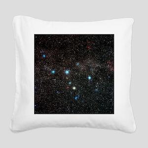 Cassiopeia constellation - Square Canvas Pillow