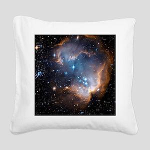 Starbirth region NGC 602 - Square Canvas Pillow