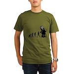 Cute Robot Evolution Organic Men's T-Shirt (dark)