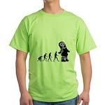 Cute Robot Evolution Green T-Shirt