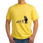 Cute Robot Evolution Yellow T-Shirt