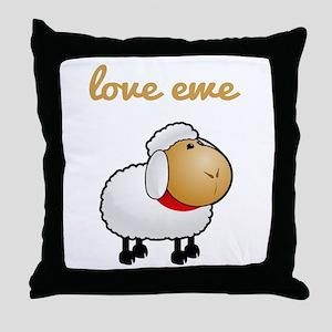 Love Ewe Throw Pillow
