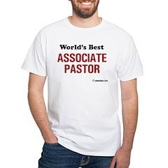 World's Best Associate Pastor White T-Shirt
