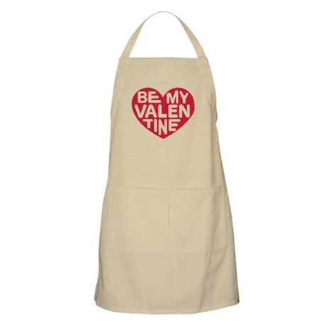 Be my valentine red heart Apron
