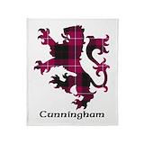 Clan cunningham tartan Fleece Blankets