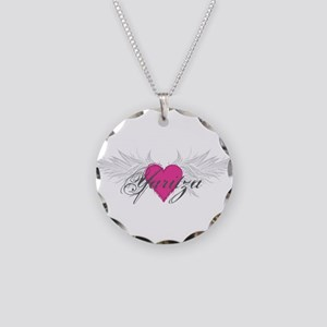 Yaritza-angel-wings.png Necklace Circle Charm