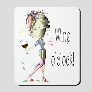 Wine oclock! Mousepad