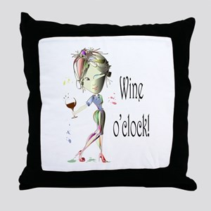 Wine oclock! Throw Pillow