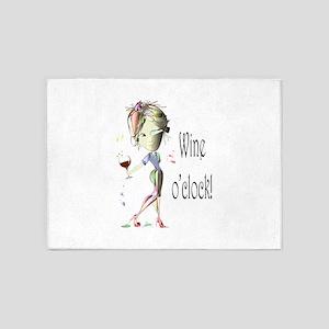 Wine oclock! 5'x7'Area Rug