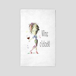 Wine oclock! 3'x5' Area Rug