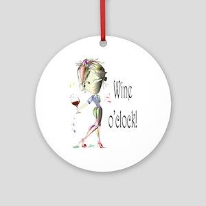 Wine oclock! Ornament (Round)