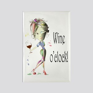 Wine oclock! Rectangle Magnet