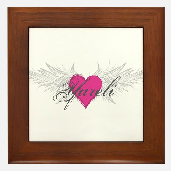 Yareli-angel-wings.png Framed Tile