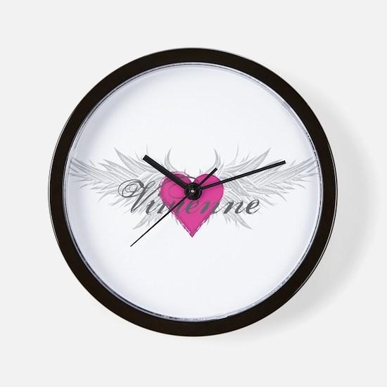 Vivienne-angel-wings.png Wall Clock