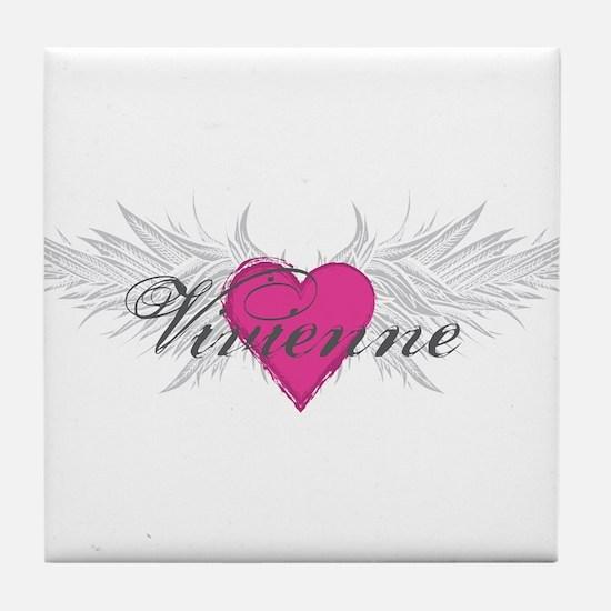 Vivienne-angel-wings.png Tile Coaster
