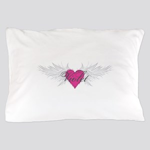 Violet-angel-wings Pillow Case
