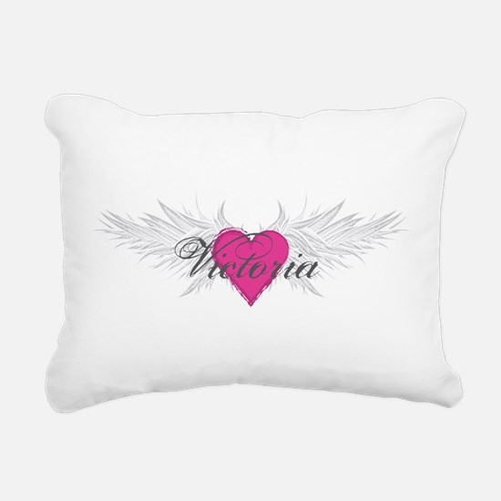 Victoria-angel-wings.png Rectangular Canvas Pillow