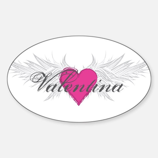 Valentina-angel-wings.png Sticker (Oval)