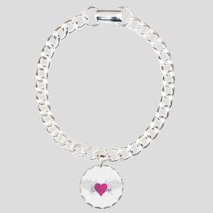 Tessa-angel-wings Charm Bracelet, One Charm