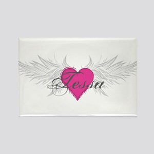 Tessa-angel-wings Rectangle Magnet