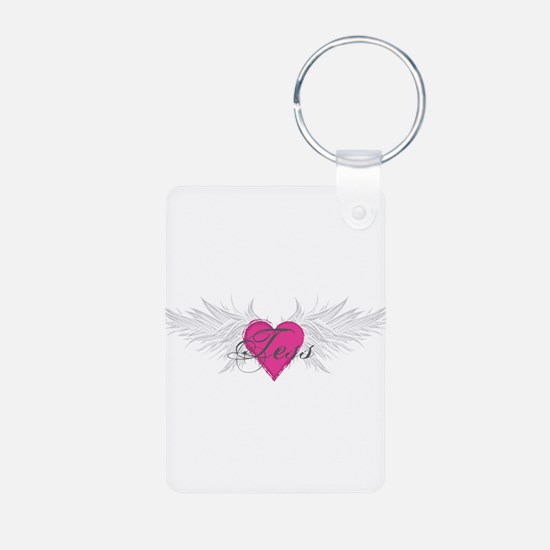 Tess-angel-wings.png Aluminum Photo Keychain