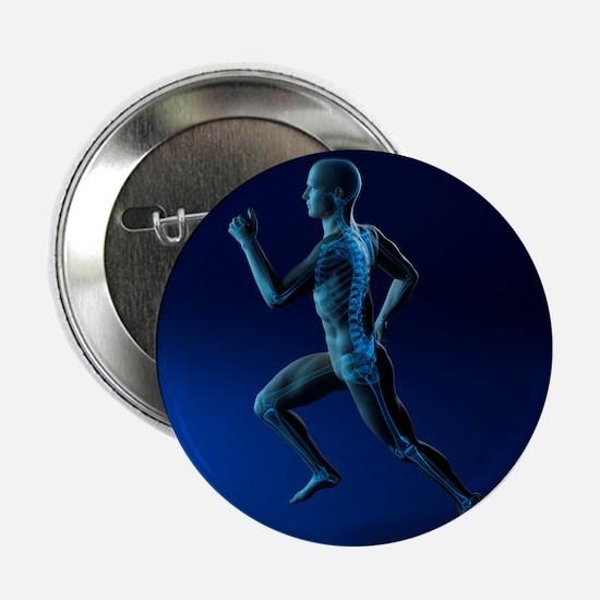 Running skeleton, artwork - 2.25' Button (10 pack)