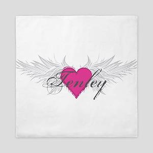Tenley-angel-wings Queen Duvet