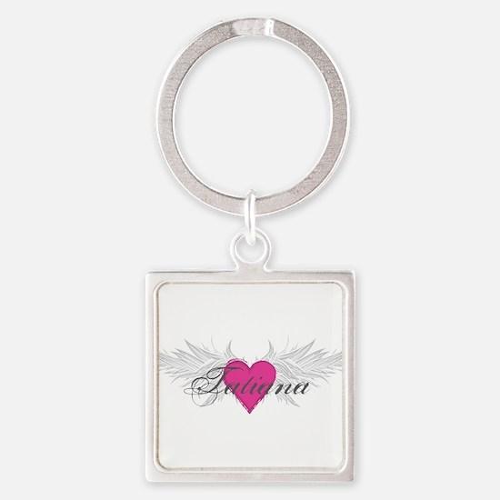 Tatiana-angel-wings.png Square Keychain