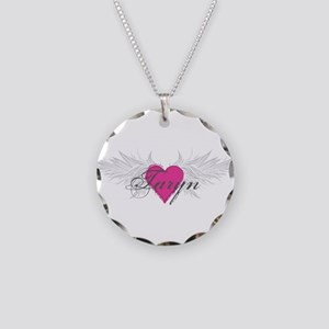 Taryn-angel-wings Necklace Circle Charm