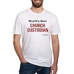 World's Best Church Custodian Fitted T-Shirt