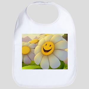 Smiling Daisy Bib