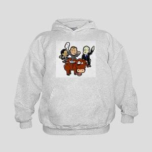 Bush Cabinet Bull Ride Kids Hoodie