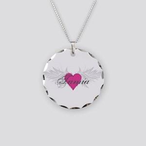 Tamia-angel-wings Necklace Circle Charm
