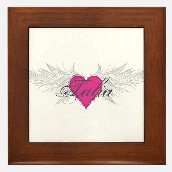 Talia-angel-wings.png Framed Tile