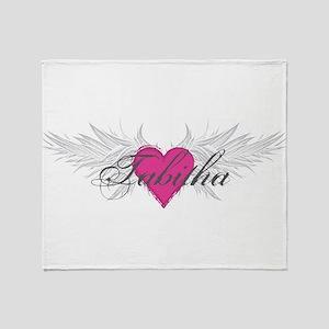 Tabitha-angel-wings Throw Blanket