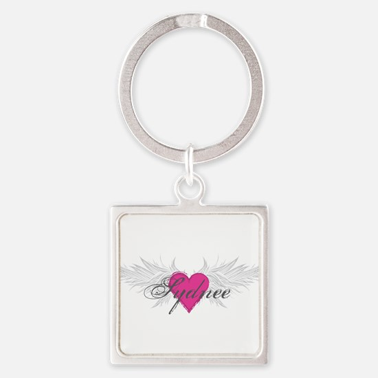 Sydnee-angel-wings.png Square Keychain