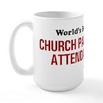 World's Best Church Parking A Large Mug