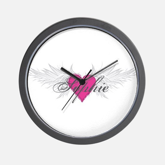 Sophie-angel-wings.png Wall Clock