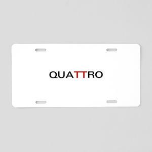 Quattro Aluminum License Plate