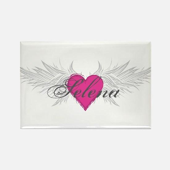 Selena-angel-wings.png Rectangle Magnet
