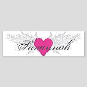 Savannah-angel-wings.png Sticker (Bumper)