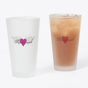 Savannah-angel-wings.png Drinking Glass