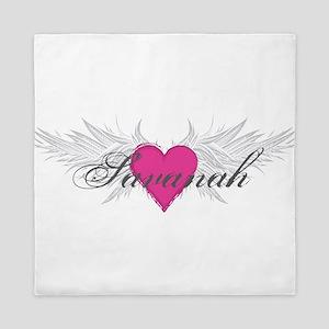 Savanah-angel-wings Queen Duvet