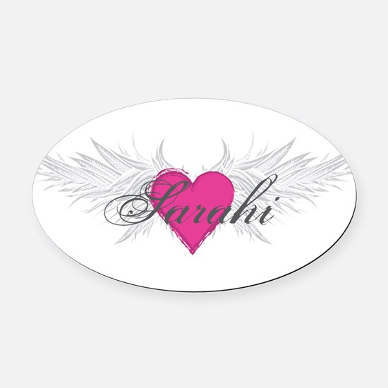 Sarahi-angel-wings.png Oval Car Magnet