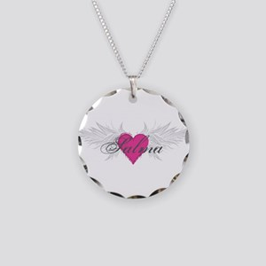Salma-angel-wings Necklace Circle Charm